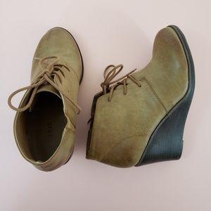 torrid Shoes - TORRID Wedge Lace Up Bootie 9 Wide